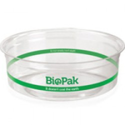 Eco Friendly BioPlastic Clear Container - 240ml  / 500 Containers per Carton