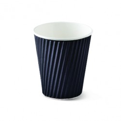 Paper Ripple Cup - 12oz Black